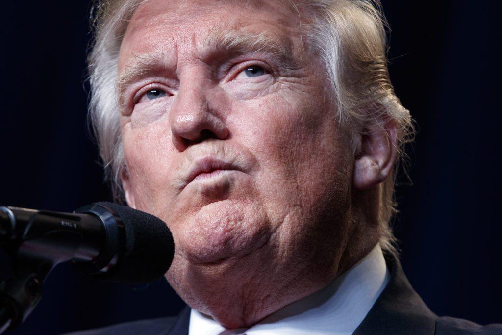 Trump stares