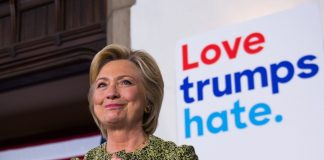 hrc love trumps hate