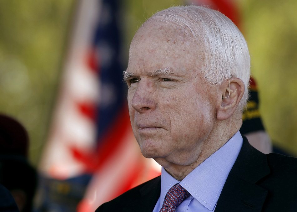 McCain and 16 of his fellow Republicans voted against help for Harvey victims