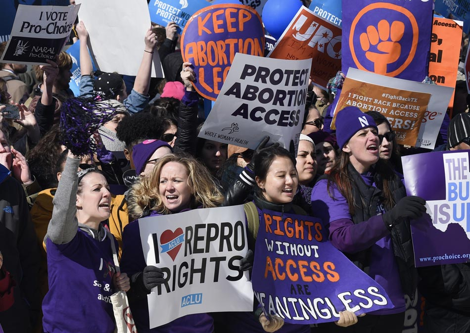 Reproductive rights supporters