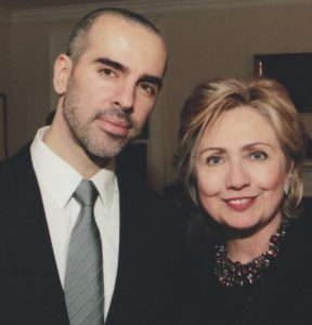 Peter with Hillary