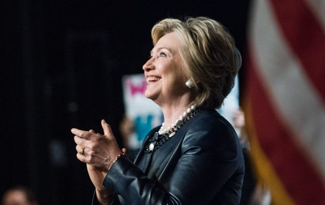 hillary side smile