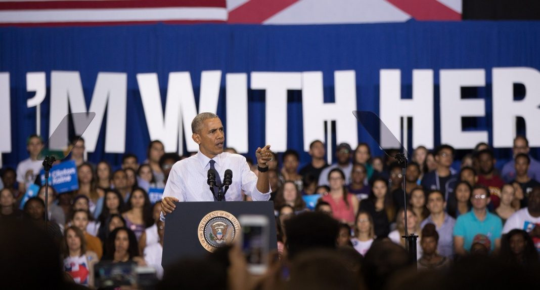 President Barack Obama holds a rally for Hillary Clinton's presidential campaign at the Florida International University in Miami, FL on November 3, 2016. (Michael Appleton for Hillary for America)