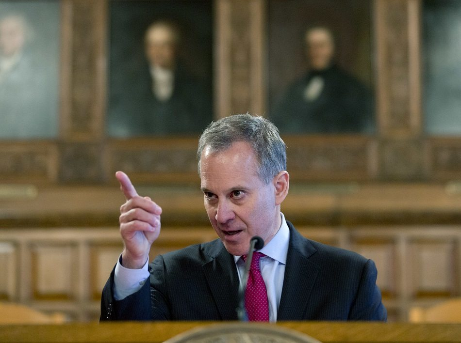 New York Democratic Attorney General Eric Schneiderman is on the side of the people, unlike the GOP