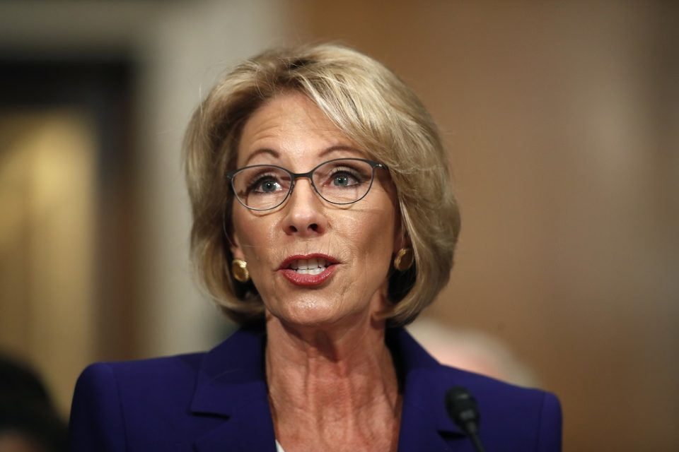 DeVos refuses to commit to protections for campus sexual assault victims