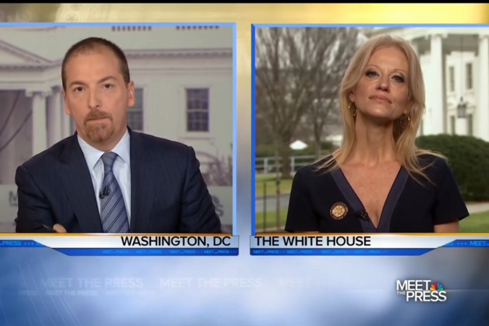 Kellyanne Conway blithely threatens Chuck Todd's access live on the air