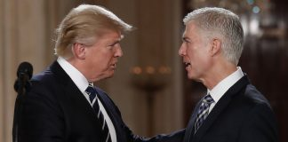 Donald Trump with Neil Gorsuch
