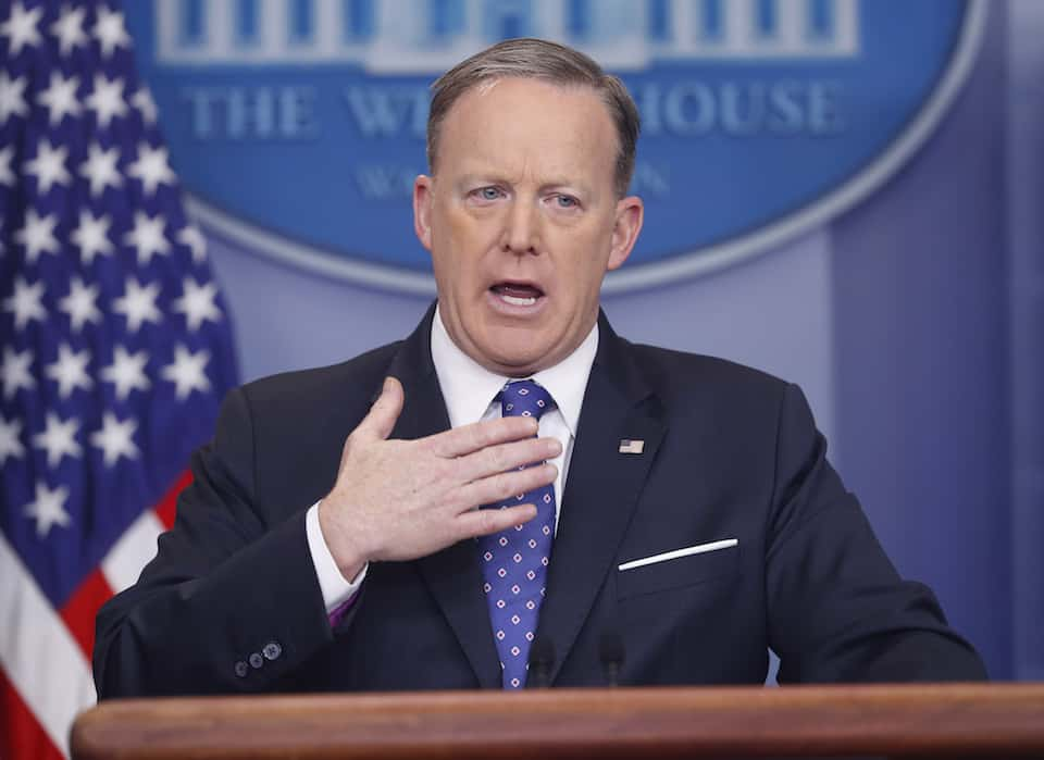 Watch: Sean Spicer literally can't say no foreign agents are working in White House