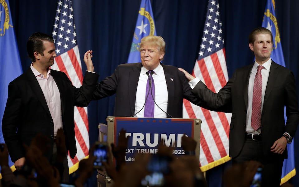 Donlad Trump Eric Trump Donald Trump Jr