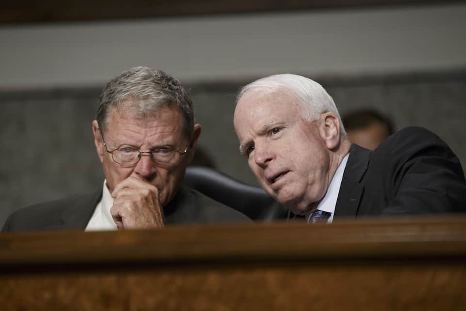 John McCain, James Inhofe