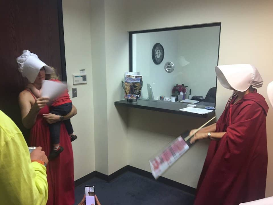 Handmaids Tale protesters