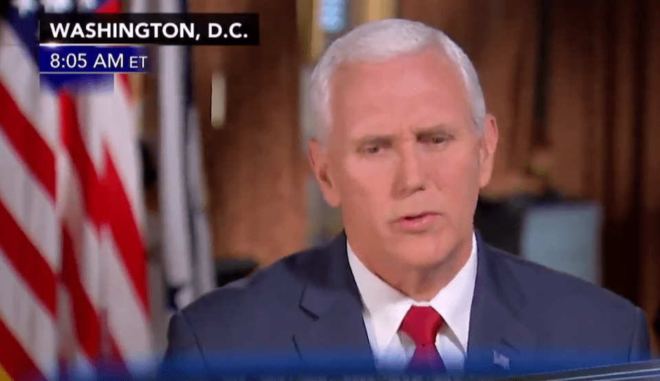 Pence confused