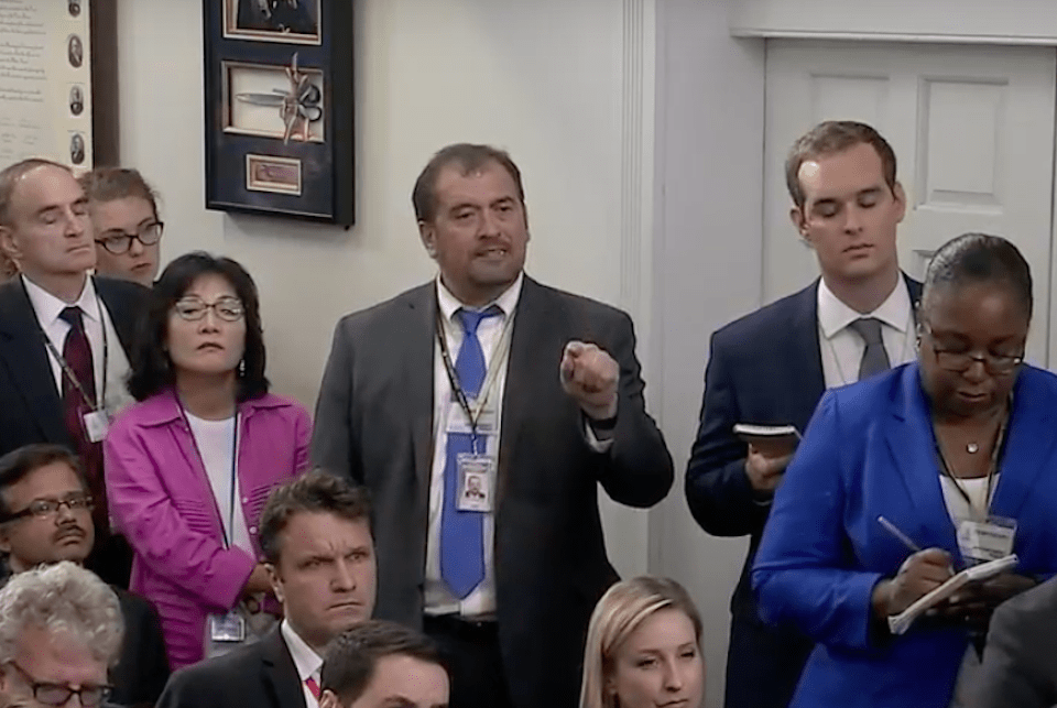 CNN's Jim Acosta Again Chides White House for Banning Cameras From Briefings