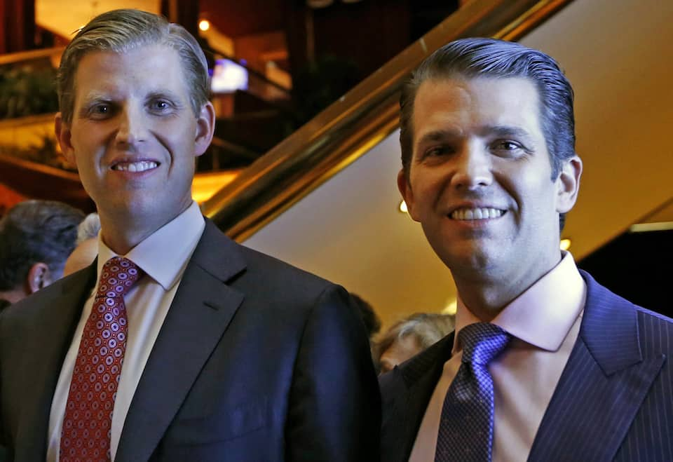 Eric Trump,Donald Trump Jr.