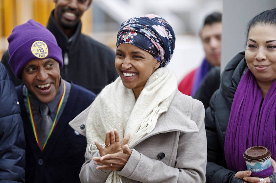 Minnesota Democratic state Rep. Ilhan Omar, the first Somali-American elected to a state legislature.