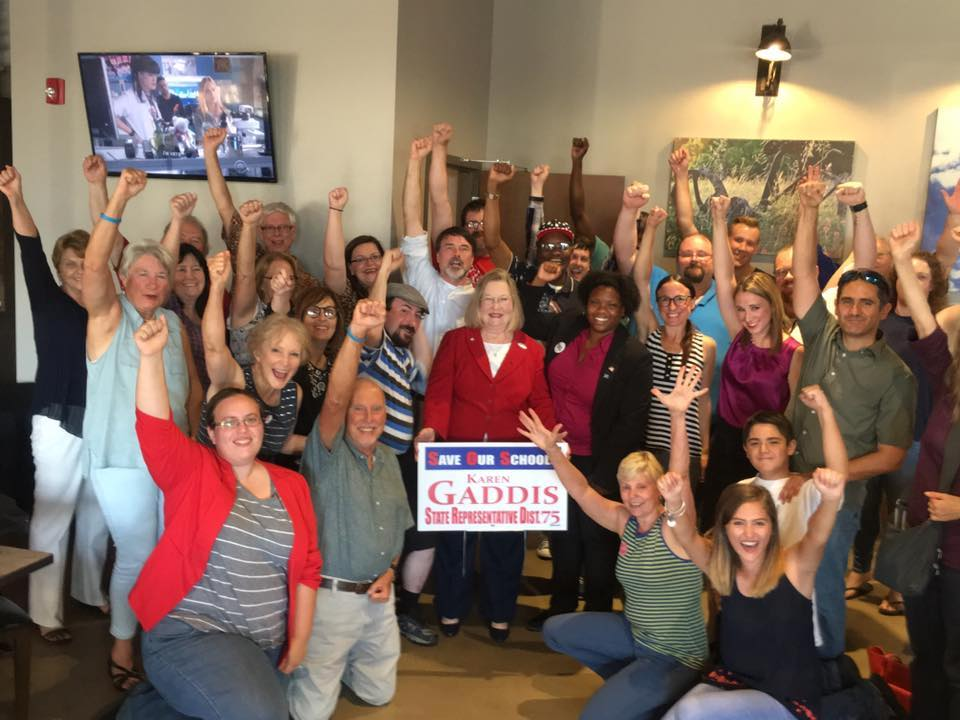 Democrat Karen Gaddis, who flipped a seat in the Oklahoma legislature from red to blue Tuesday night.