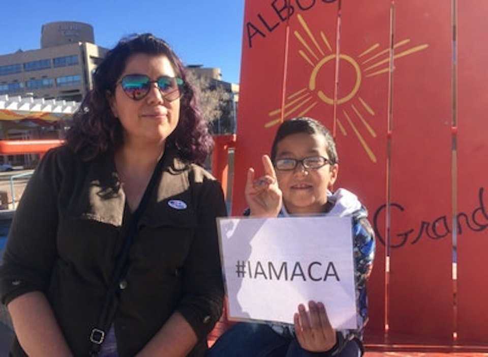 Kathleen and her son, who have health care because of Obamacare's Medicaid expansion