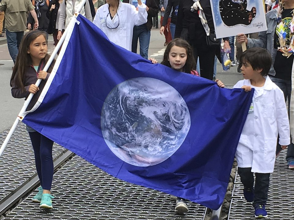 Demonstrators in support of the March for Science in San Francisco