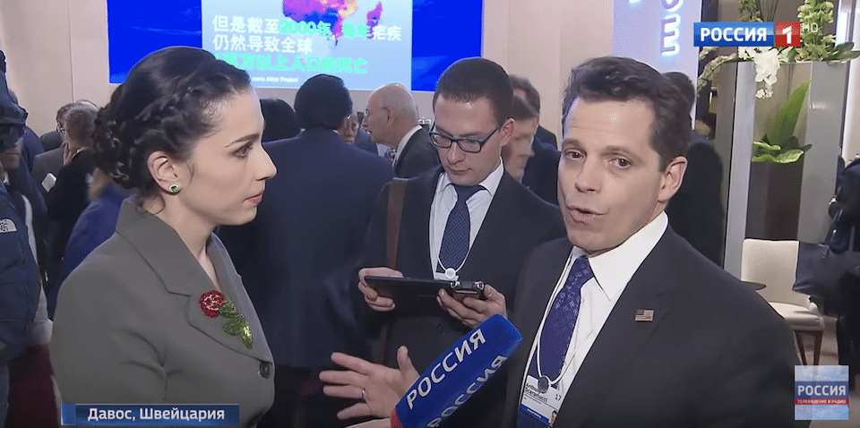 New White House comms chief caught on Russian TV saying he wants to lift US sanctions