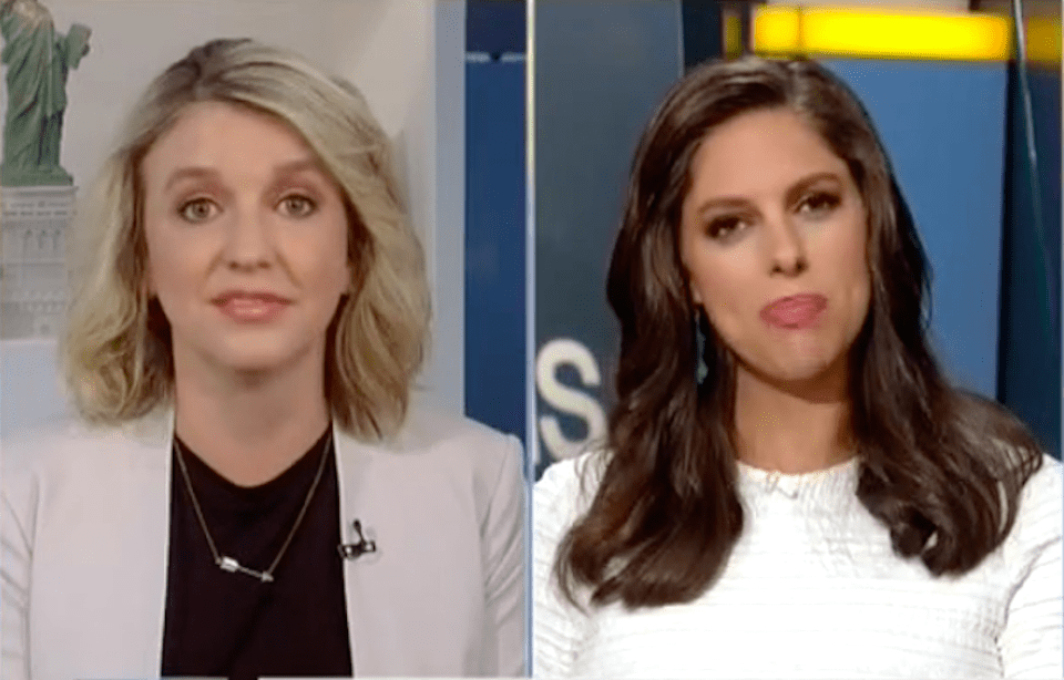 Shareblue's Executive Editor, Jess McIntosh, and Fox News' Abby Huntsman.