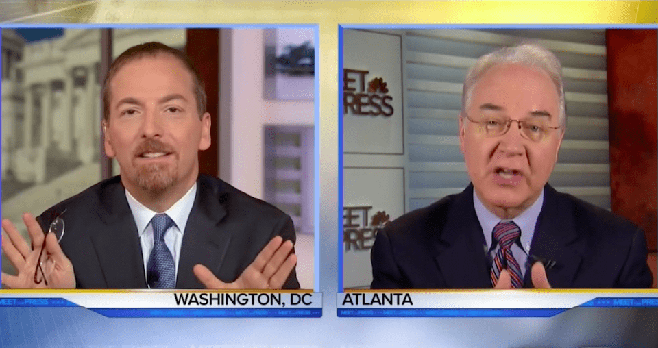 NBC's Chuck Todd and Health and Human Services Secretary Tom Price