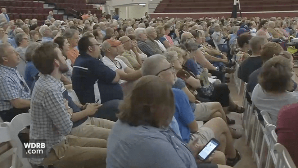 Audience at Kentucky Democratic Rep. John Yarmuth's town hall.