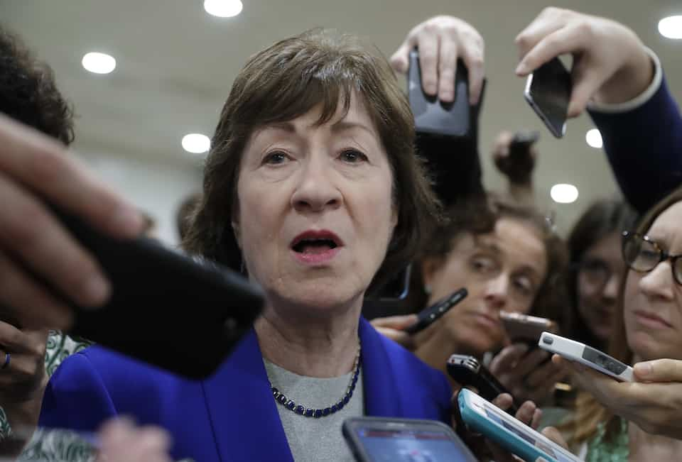 Sen. Collins locks office doors, refuses to answer to constituents on secret GOP tax scam