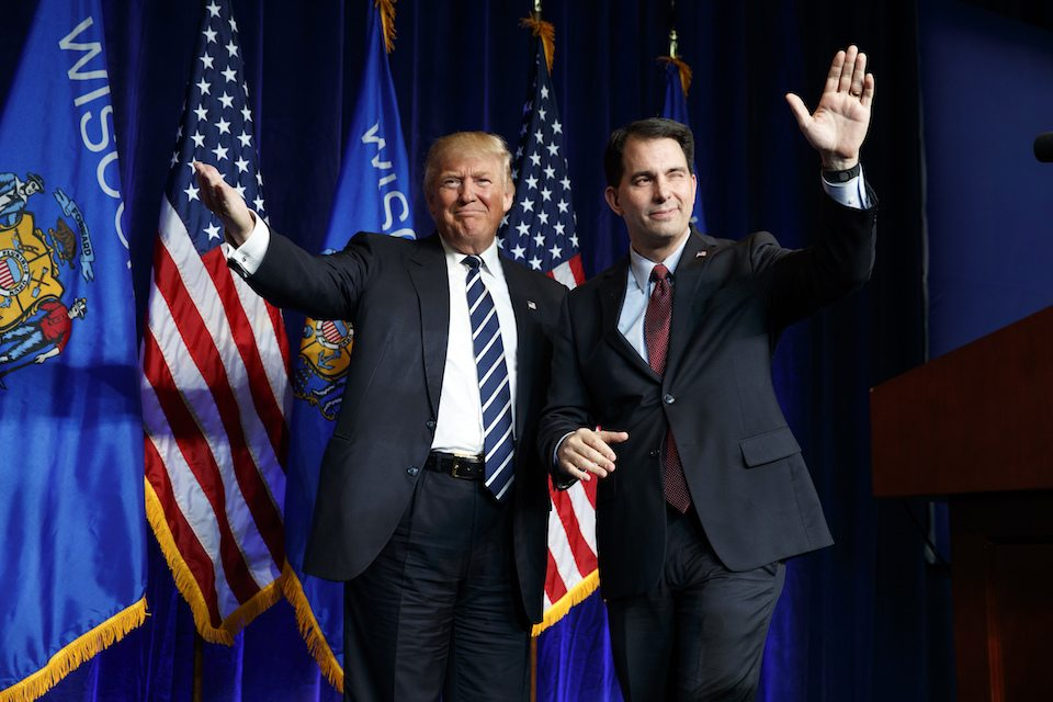 Gov. Scott Walker is spending taxpayers' dollars to make Trump look good