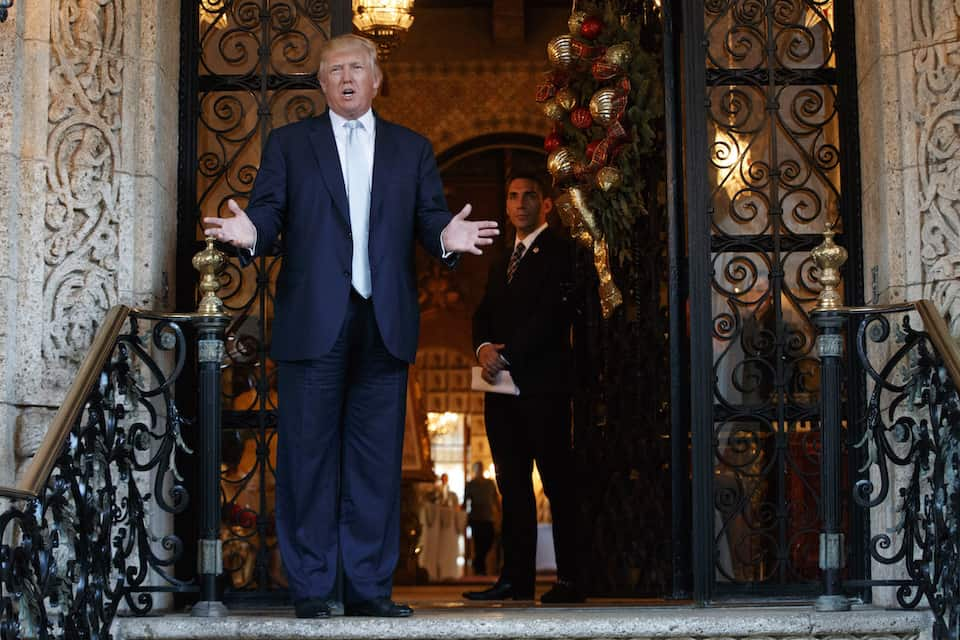 Trump at his Mar-a-Lago resort in Florida