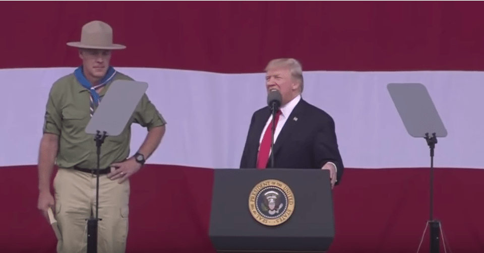 Boy Scouts apologise for Trump remarks