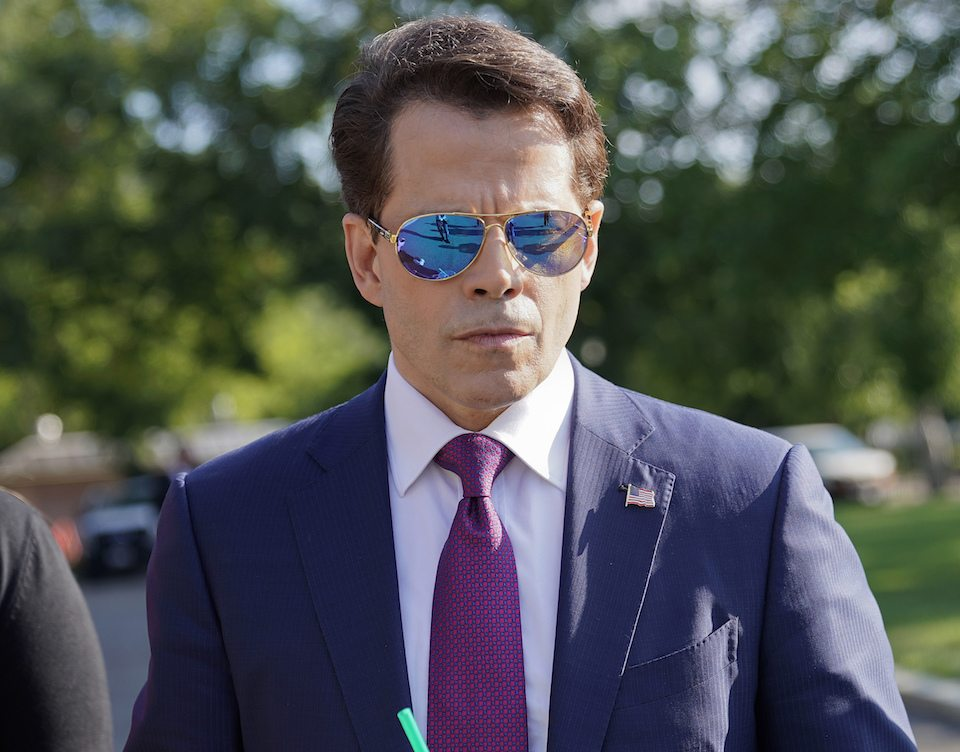 The new and already former White House communications director, Anthony Scaramucci