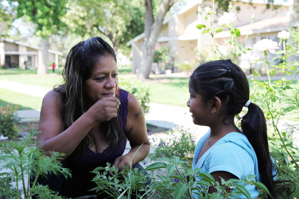 Farmworker Cristina Melendez with her 3-year-old daughter Claudia Yanely in Fresno, CA