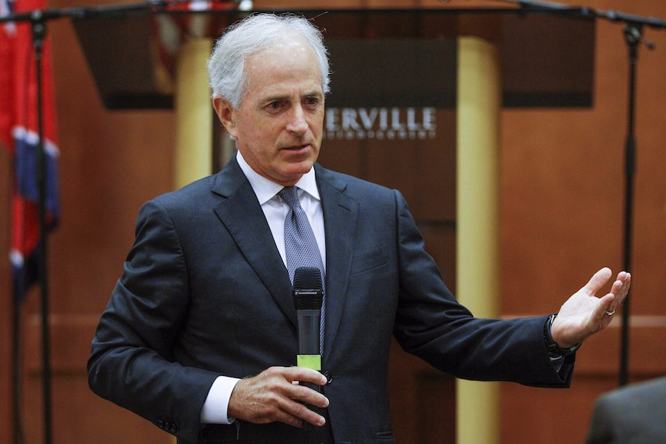 Republican Sen. Bob Corker is afraid to face his Tennessee constituents and insults them when he does