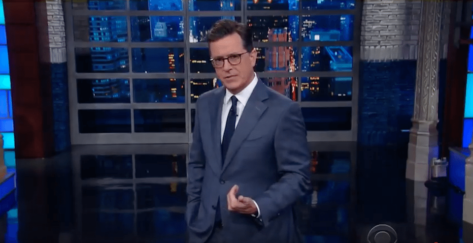 Stephen Colbert gets serious in Trump-fueled edition of