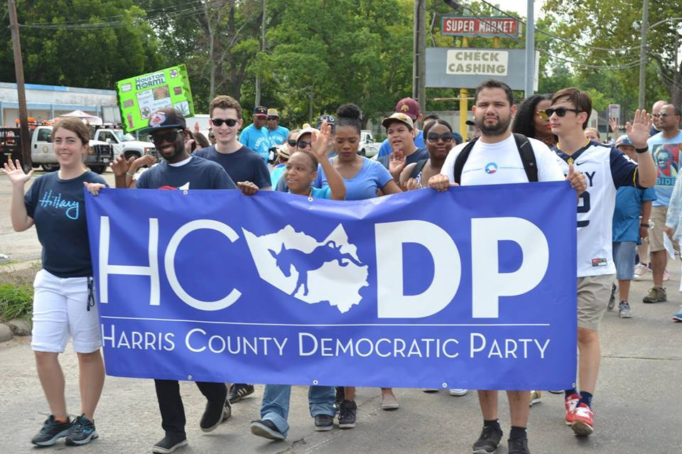 Democrats march in Harris County, Texas