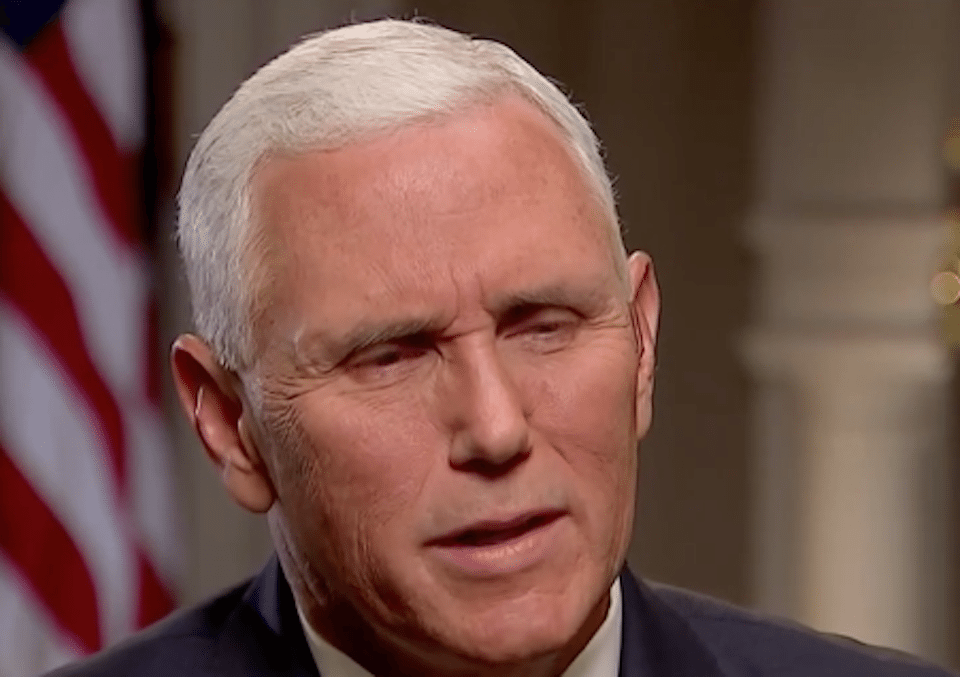 Mike Pence squirms