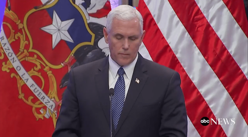 """Pence on Trump's horrific defense of white supremacists: """"I stand with the president"""""""