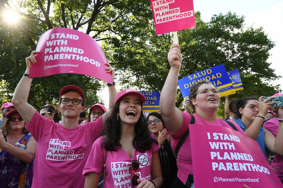 Planned Parenthood supporters rallied to save health care