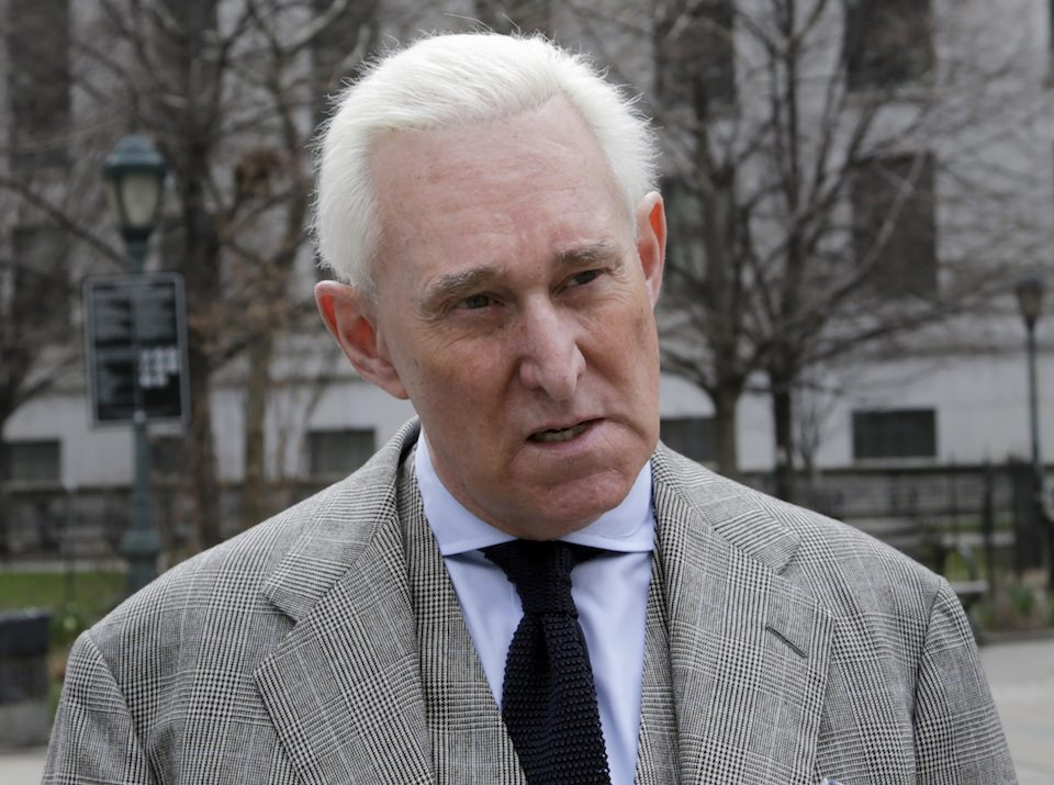 Roger Stone, Trump's longtime ally and former campaign adviser