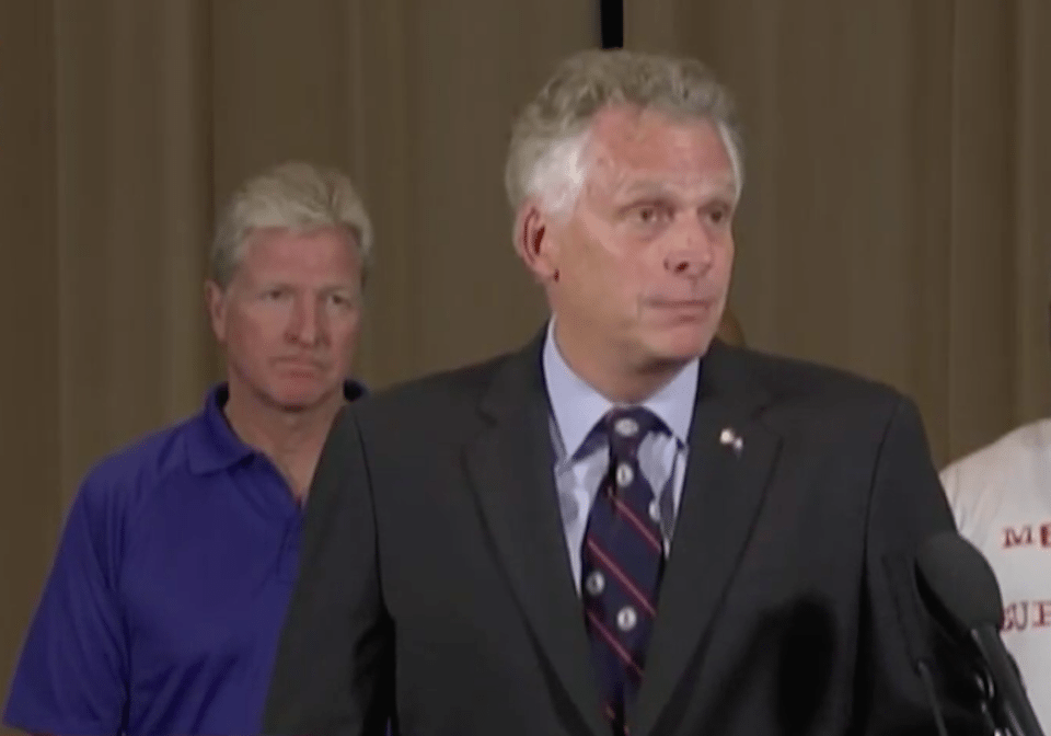 Virginia Gov. Terry McAuliffe speaks about the violent white supremacist riot in Charlottesville