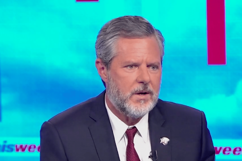 Liberty University president Jerry Falwell, Jr., had the unenviable task of trying to defend Trump's terrible week