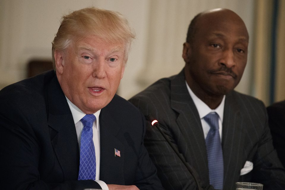Merck CEO Kenneth Frazier resigned from Trump's advisory board in protest of Trump's silence on white supremacy