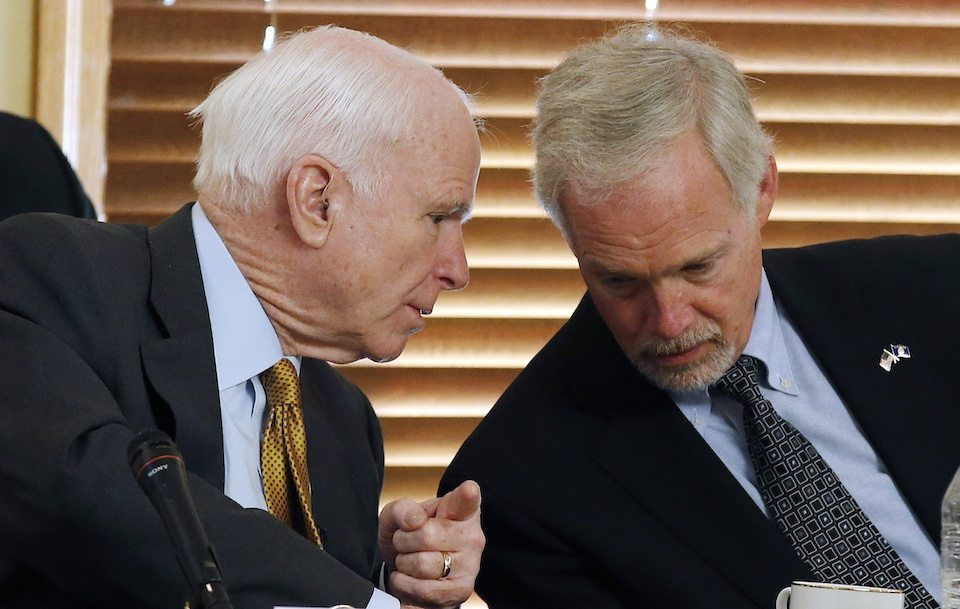 Sens. John McCain and Ron Johnson, both on the Homeland Security Committee, which has nothing to do with health care