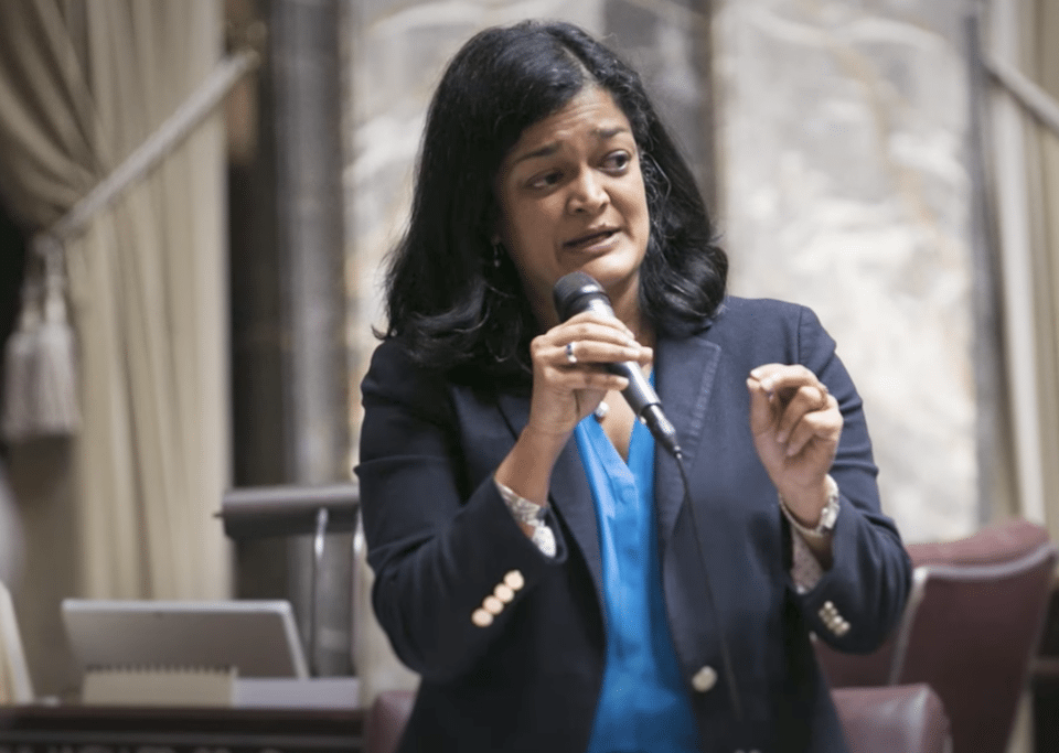 Her name is Congresswoman Pramila Jayapal, not
