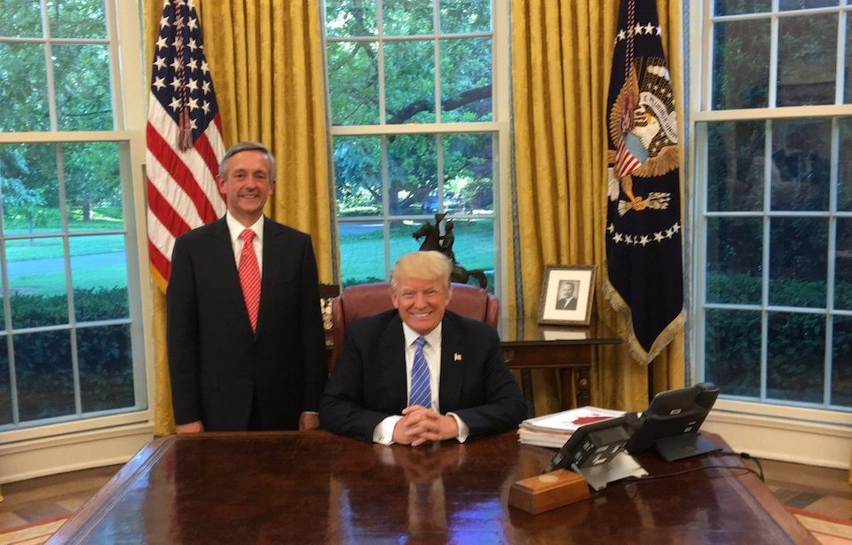 Trump with one of his favorite evangelical advisers
