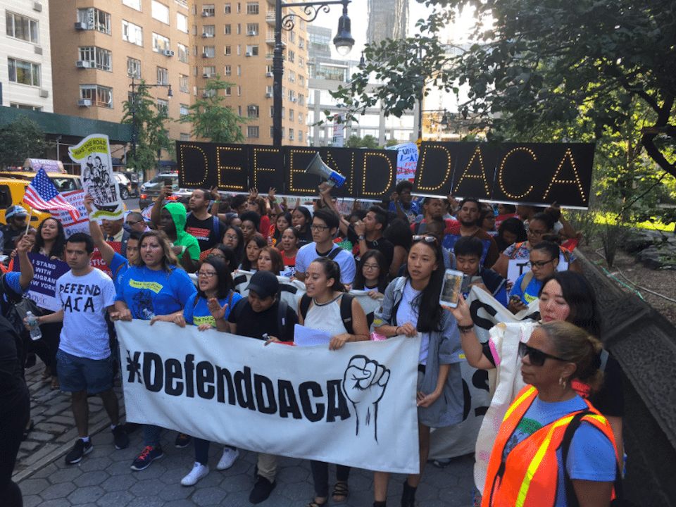 DREAMers and immigration activists in New York City