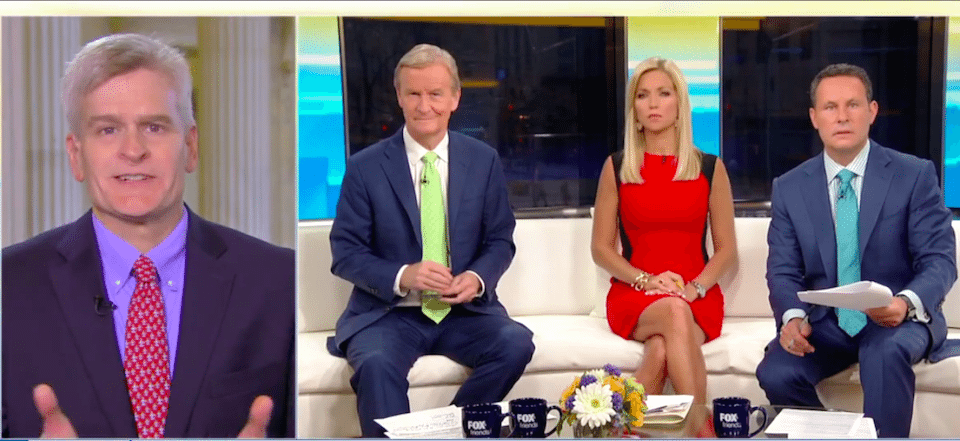 Sen. Bill Cassidy (R-LA) and the Fox & Friends crew, telling more lies to the nation