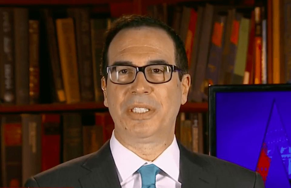 Treasury Secretary Steve Mnuchin is as hostile to free speech as his boss