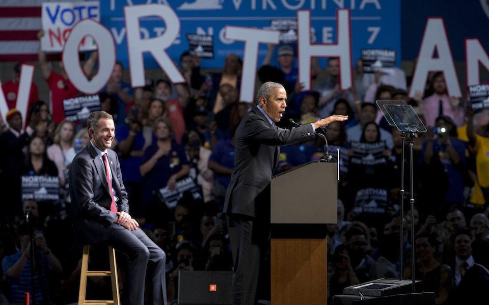 President Barack Obama with Democratic Virginia gubernatorial candidate Lt. Gov., Ralph Northam