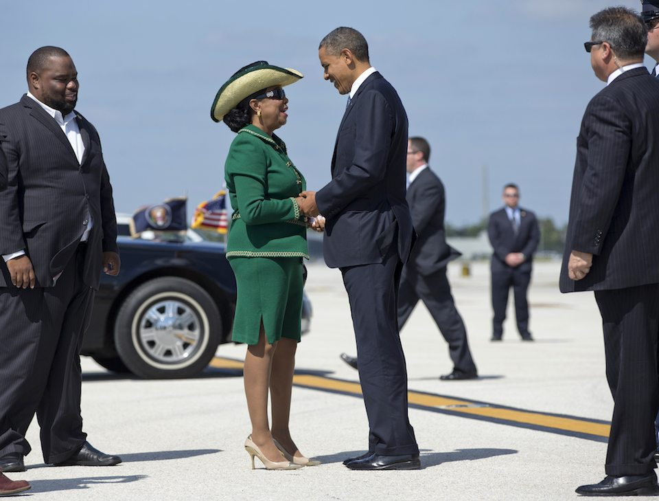 President Barack Obama with Rep. Frederica Wilson